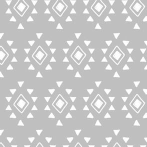 Geometric Aztec Tribal Pattern (gray) Kids Children Nursery Bedding