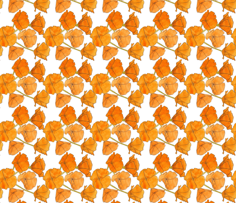 California Poppy Pattern (Small) fabric by studiodena on Spoonflower - custom fabric