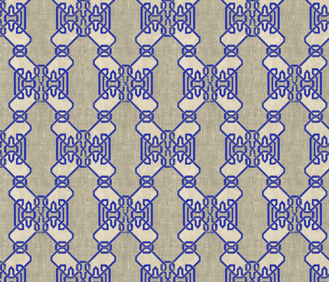 Alhambra Inlay Small fabric by jen_stone on Spoonflower - custom fabric