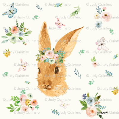 "4"" Spring Time Bunny Light Ivory"