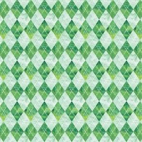 1/2 scale - Argyle watercolor - green