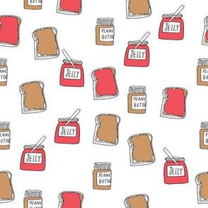pbj // peanut butter and jelly fun kids foods fabric white