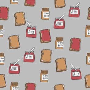 pbj // peanut butter and jelly fun kids foods fabric grey