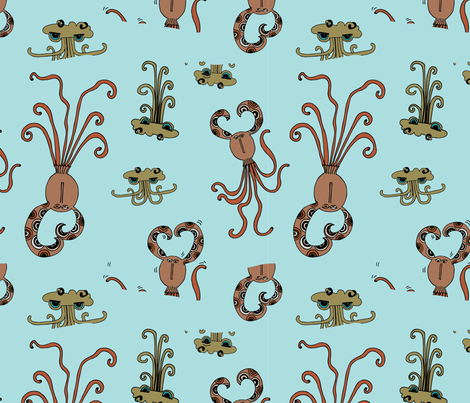 Quinn + Quinlan fabric by the_momemans on Spoonflower - custom fabric