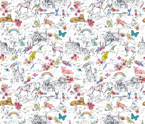LITTLE AND FIERCE_MINI fabric by pattern_state on Spoonflower - custom fabric
