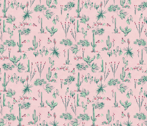 SCOUT CACTUS_BLUSH fabric by pattern_state on Spoonflower - custom fabric