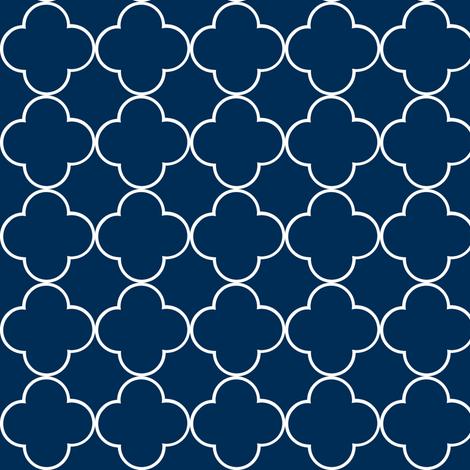 quatrefoil 2 Mini162-  navy fabric by drapestudio on Spoonflower - custom fabric