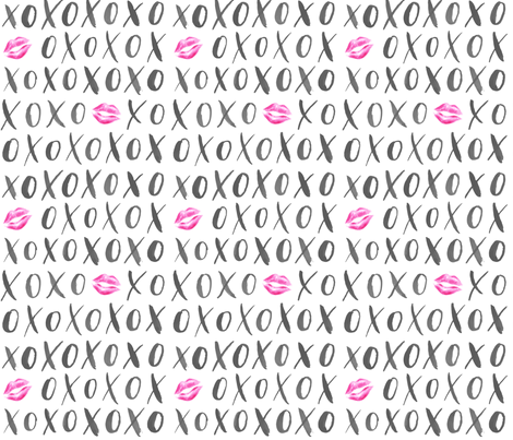 XOXO fabric by courtneyrosedesign on Spoonflower - custom fabric