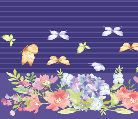 meadow ultraviolet stripes-01-01-01 fabric by stargazingseamstress on Spoonflower - custom fabric
