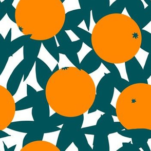 Art Deco Minimalist Orange Grove