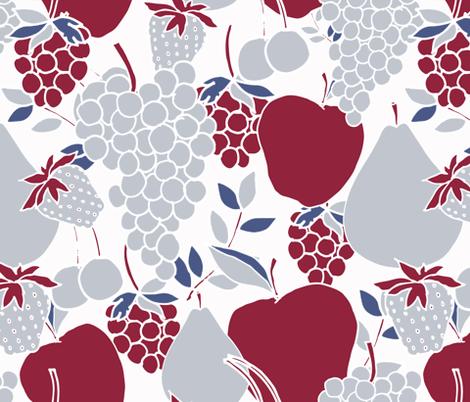 Fruit_Pattern_BurgundyGray fabric by kendrashedenhelm on Spoonflower - custom fabric