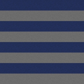 """2"""" Textured Stripe - Royal Blue And Grey"""