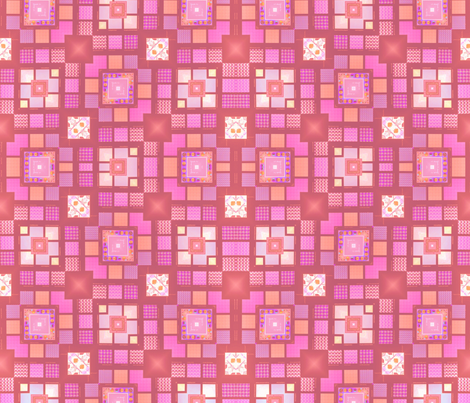 Meandering rose blocks fabric by twigsandblossoms on Spoonflower - custom fabric