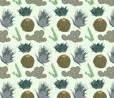 Cacti & Succulents fabric by craftsturbator_ on Spoonflower - custom fabric