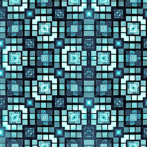 Blue Meandering Blocks