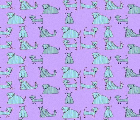 Good Blue doggies fabric by la_vie_est_belle on Spoonflower - custom fabric