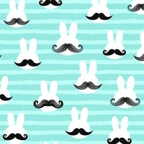 mr. bunny - light aqua stripes