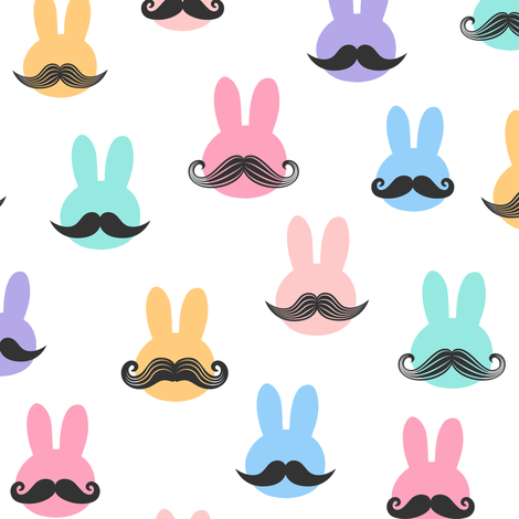 mr. bunny - pastels fabric by littlearrowdesign on Spoonflower - custom fabric