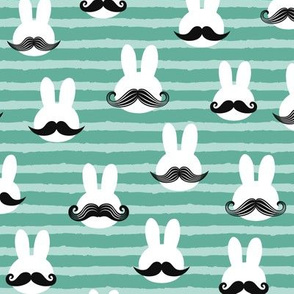mr. bunny - green stripes