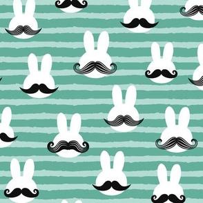 mr. bunny - green stripes