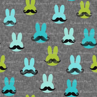 mr. bunny - multi on grey