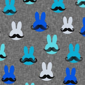mr. bunny - multi blues on grey