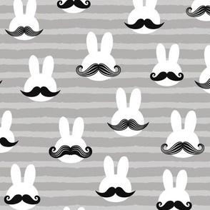 mr. bunny - grey stripes