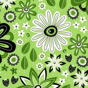 Bohemian Fields (Green and Black)