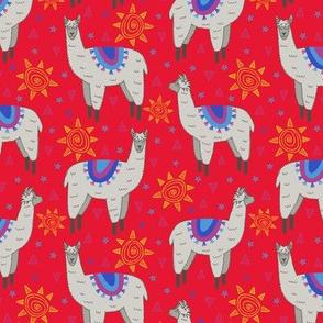 Llama Love (red)