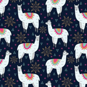 Llama Love (Navy)