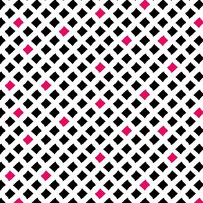 Arizona Diamonds (White, Black and Pink)