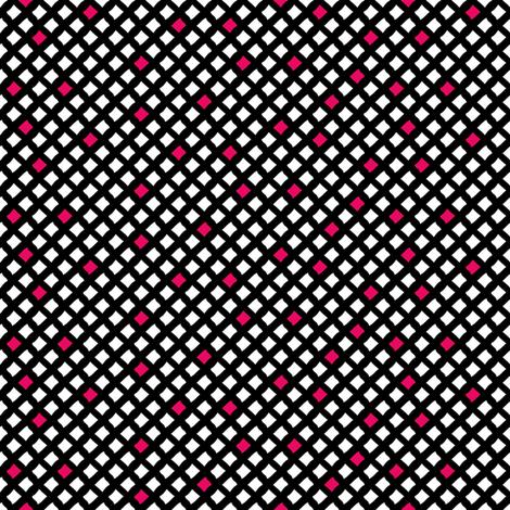 Arizona Diamonds (Black, White and Pink) fabric by robyriker on Spoonflower - custom fabric
