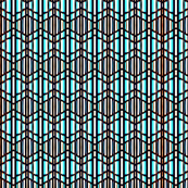 Stained Glass Weave Black and Light Blue