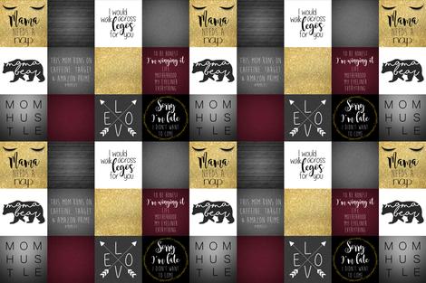 "6"" CAFFEINE #MomLife fabric by lacklandacres on Spoonflower - custom fabric"