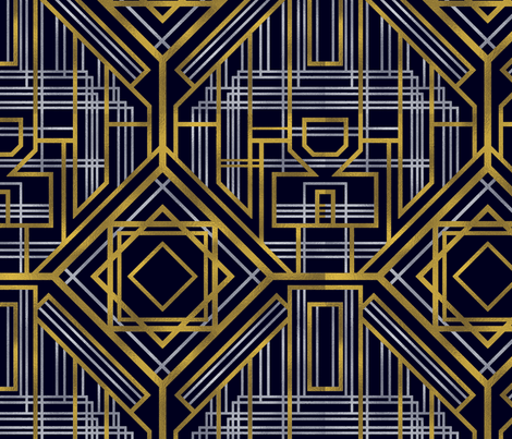 ArtDeco fabric by brittemily on Spoonflower - custom fabric