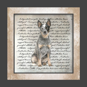 Cattle Dog Quilt/Pillow Panel
