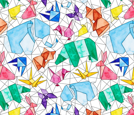 Origami Animals fabric by jenuine_designs on Spoonflower - custom fabric