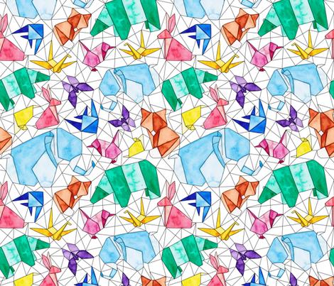 Origami Animals fabric by jenuine_designs on Spoonflower - custom fabric