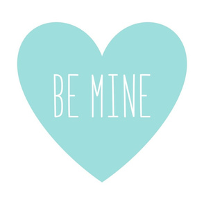 be mine love heart light teal » plush + pillows // fat quarter