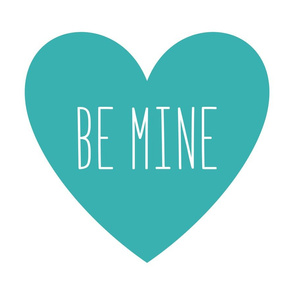 be mine love heart teal » plush + pillows // fat quarter