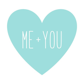 me plus you love heart light teal » plush + pillows // fat quarter