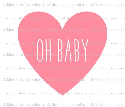 oh baby love heart pretty pink » plush + pillows // fat quarter
