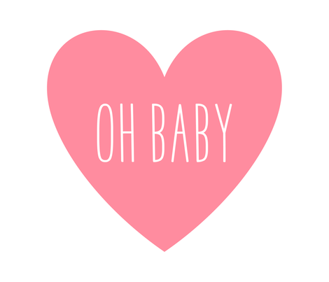 oh baby love heart pretty pink » plush + pillows // fat quarter fabric by misstiina on Spoonflower - custom fabric