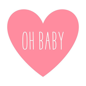 oh baby love heart pretty pink » plush + pillows // fat quarter