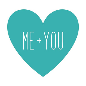 me plus you love heart teal » plush + pillows // fat quarter