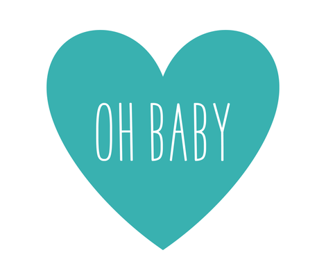 oh baby love heart teal » plush + pillows // fat quarter fabric by misstiina on Spoonflower - custom fabric