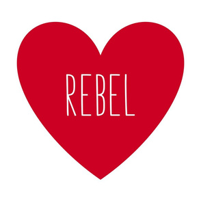 rebel love heart red » plush + pillows // fat quarter