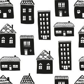 Houses b&w