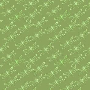 Dragonfly green diagonal