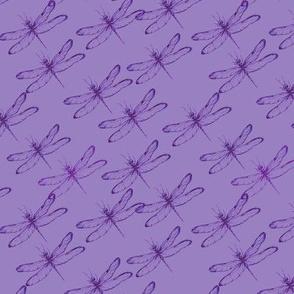 Dragonfly violet diagonal